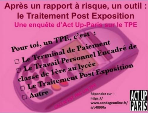 Enquête d'Act Up-Paris sur le TPE