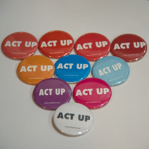Badges ACT UP