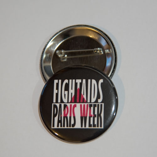 Badge FIGHT AIDS PARIS WEEK