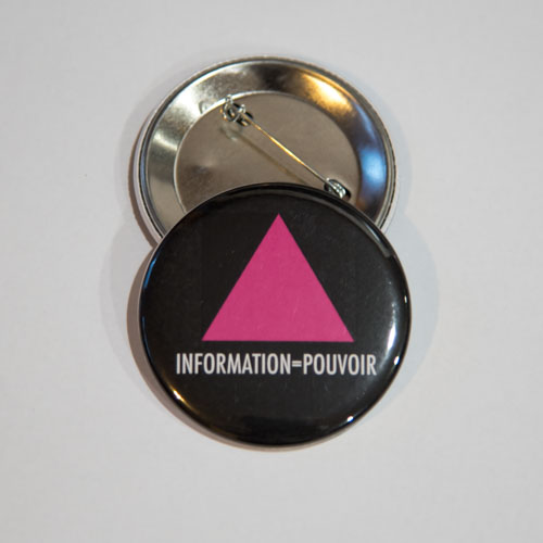 Badge INFORMATION = POUVOIR