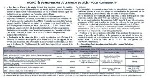 certificat décès 2018