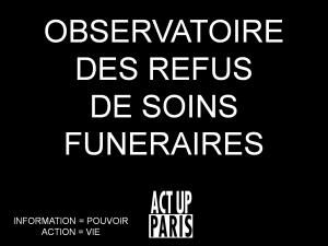 observatoire refus de soins funéraires