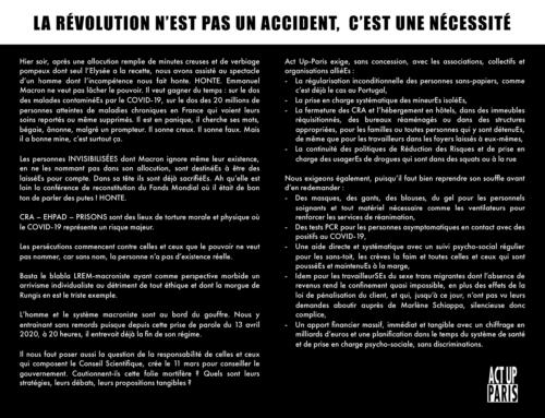 La révolution n'est pas un accident, c'est une nécessité
